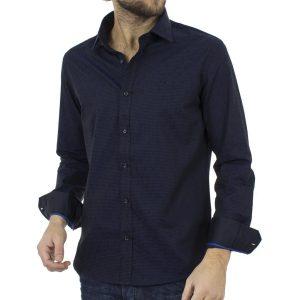 Μακρυμάνικο Πουκάμισο Slim Fit BENETO MARETTI W17SH83710-3 Blueblack