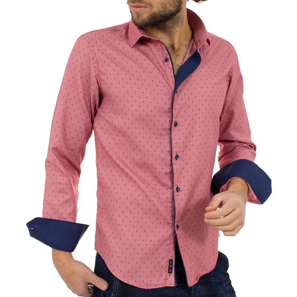 Μακρυμάνικο Πουκάμισο Slim Fit CND Shirts 2500-3 Ροζ  5b27a62d7b4