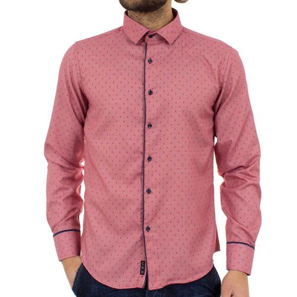 Μακρυμάνικο Πουκάμισο Slim Fit CND Shirts 2500-3 Ροζ