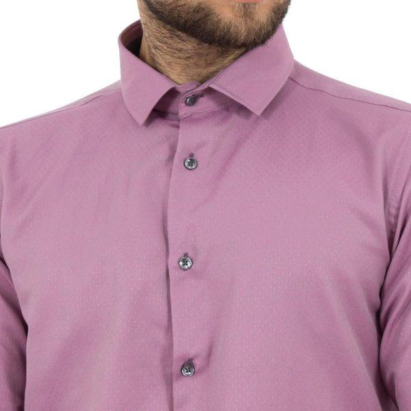 Μακρυμάνικο Πουκάμισο Slim Fit CND Shirts 2700-5 Ροζ