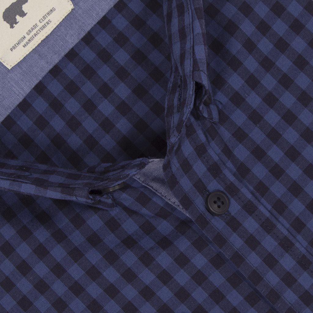 9f7922c36ee3 Καρό Μακρυμάνικο Πουκάμισο Regular Fit DOUBLE GS-456 Μπλε
