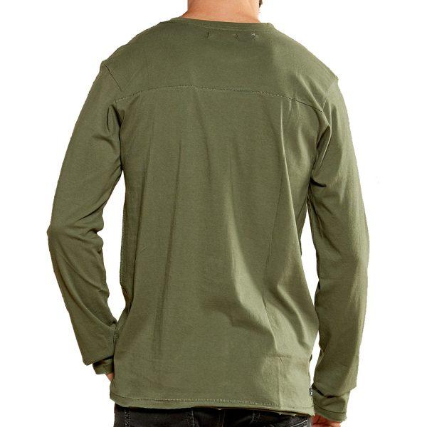 Μακρυμάνικη Μπλούζα DEELUXE74 DENILSON W18125KAK Χακί
