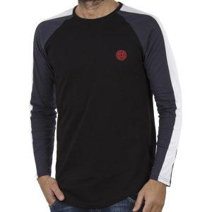 Μακρυμάνικη Μπλούζα FREE WAVE 82105 Μαύρο