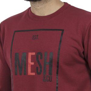 Μακρυμάνικη Μπλούζα MESH&CO Frontline 05-285 Μπορντό