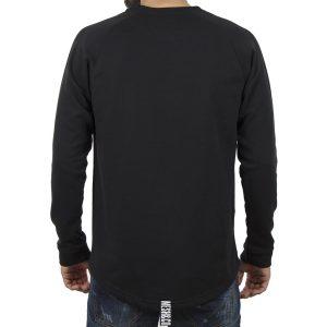 Μακρυμάνικη Μπλούζα MESH&CO Logo Motif 05-294 Μαύρο