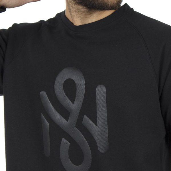 Μακρυμάνικη Μπλούζα MESH&CO Logo Motif 05-294 ΜαύροΜακρυμάνικη Μπλούζα MESH&CO Logo Motif 05-294 Μαύρο