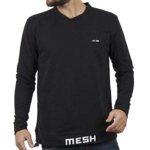 Μακρυμάνικη Μπλούζα MESH&CO Mesh College 05-293 Μαύρο