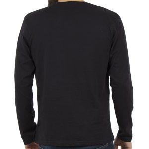 Μακρυμάνικη Μπλούζα DOUBLE TS-70 Μαύρο