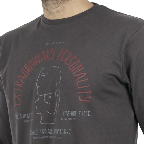 Μακρυμάνικη Μπλούζα DOUBLE TS-72 Ανθρακί