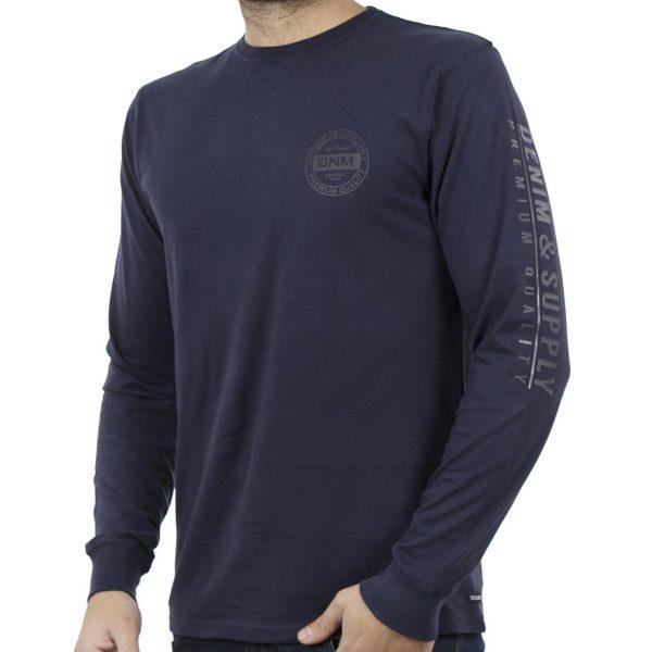 Μακρυμάνικη Μπλούζα DOUBLE TS-73 Indigo