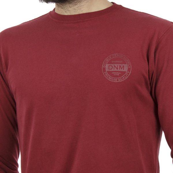 Μακρυμάνικη Μπλούζα DOUBLE TS-73 Κόκκινο