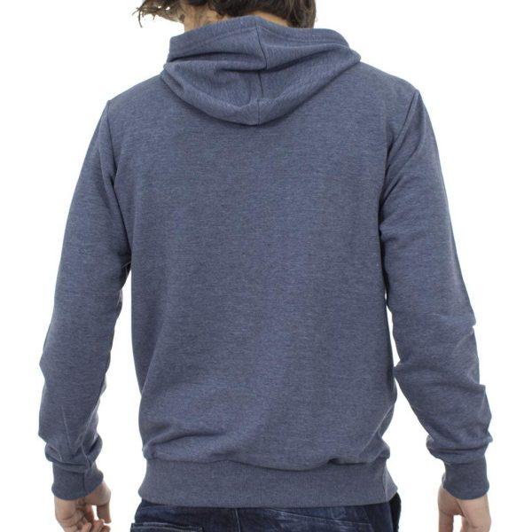 Μπλούζα Φούτερ με Κουκούλα Hoodie SANTANA SW17-3-47 Μπλε ραφ