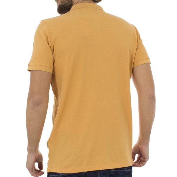 Κοντομάνικο Μπλούζακι με Γιακά Polo Pique DOUBLE GS-32S Mango Yellow