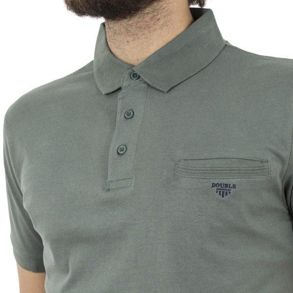 Κοντομάνικο Μπλούζακι με Γιακά Polo Jersey DOUBLE PS-209S Pesto
