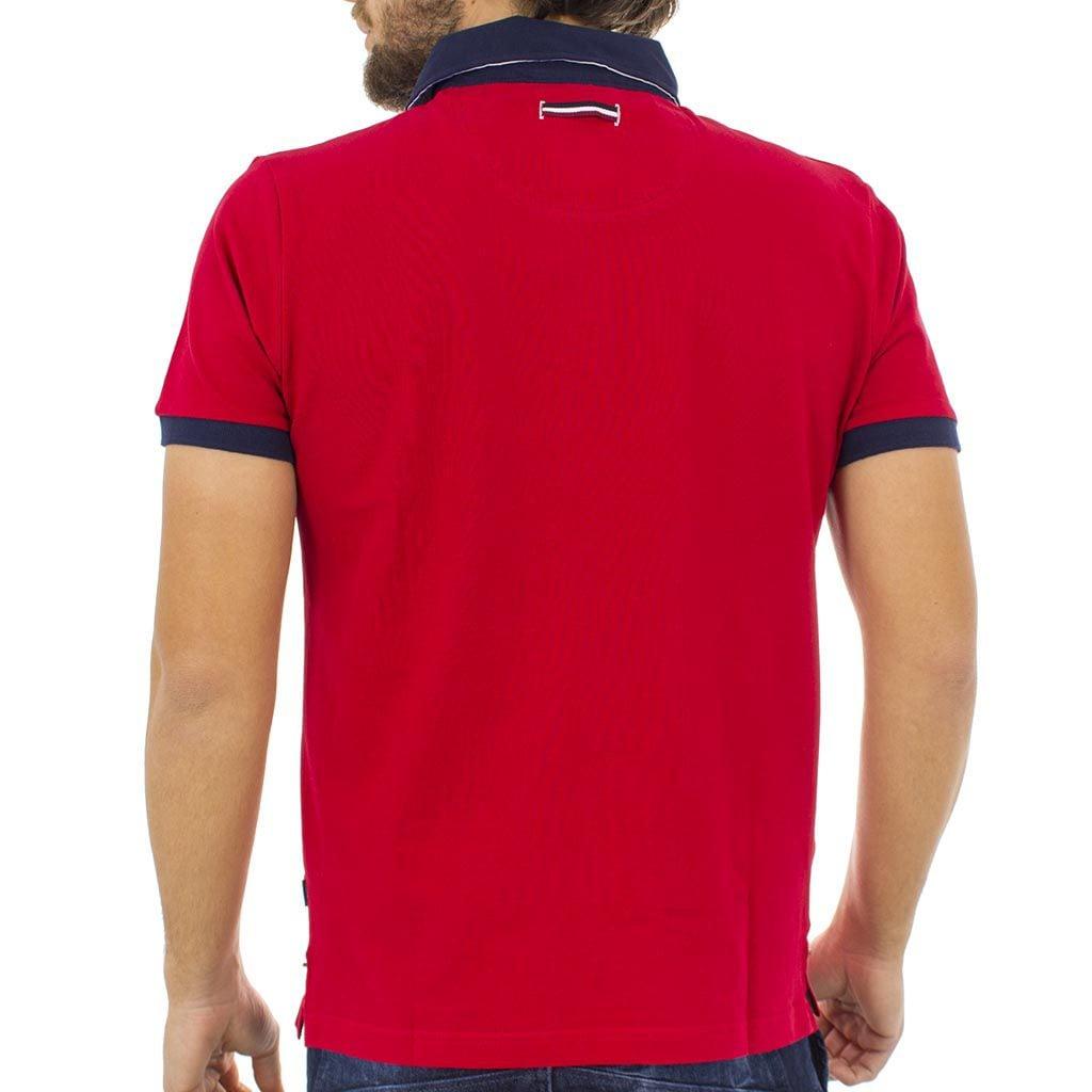 Κοντομάνικο Μπλούζακι με Γιακά Polo DOUBLE Polo Piqu PS-211S Κόκκινο