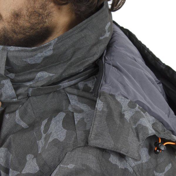 Μπουφάν Flight Bomber Jacket με Κουκούλα ICE TECH G621 Γκρι παραλλαγής