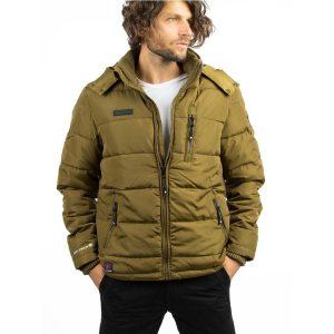 Μπουφάν Puffer Jacket ICE TECH A537 Mustard