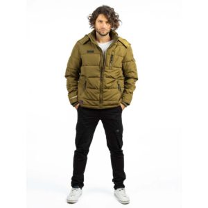 Μπουφάν Puffer Jacket ICE TECH A537 Mustard