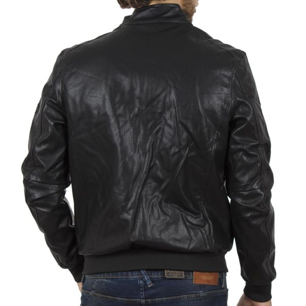 Μπουφάν Flight Bomber Jacket ICE TECH Echo-PU Μαύρο