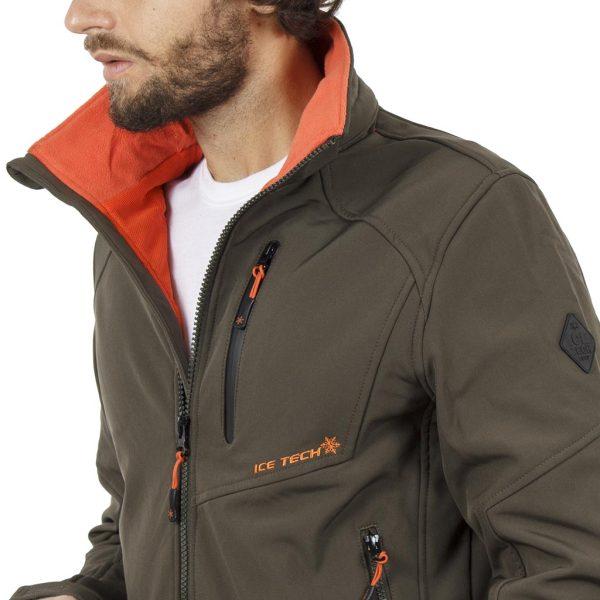 Μπουφάν Jacket με Κουκούλα ICE TECH G604 Χακί