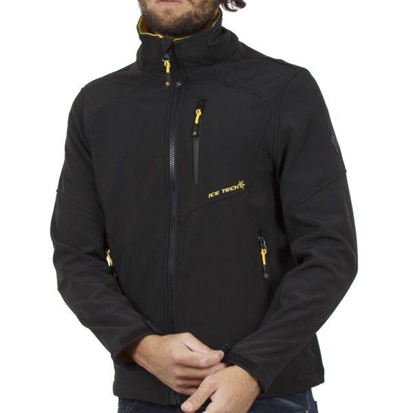 Μπουφάν Jacket με Κουκούλα ICE TECH G604 Μαύρο