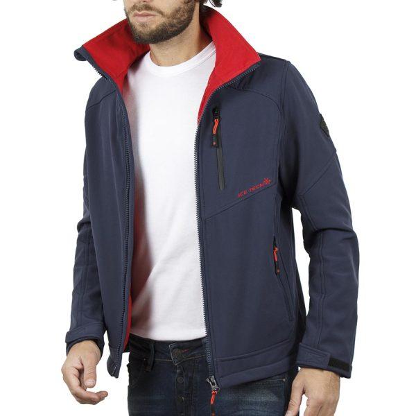 Μπουφάν Jacket με Κουκούλα ICE TECH G604 Navy