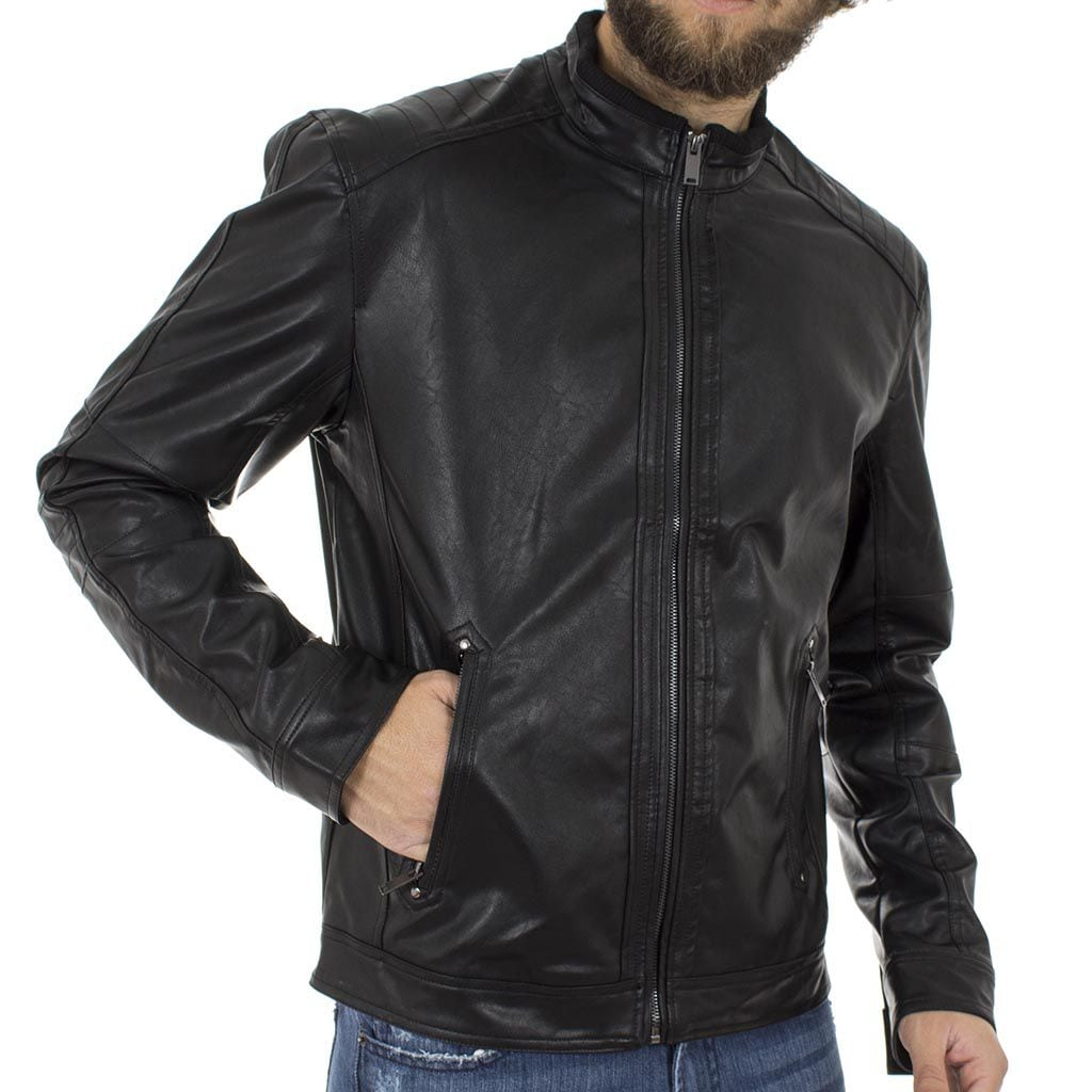 440fbc7537a2 Ανοιξιάτικο Μπουφάν Τεχνόδερμα Jacket SPLENDID 39-201-004 Μαύρο ...