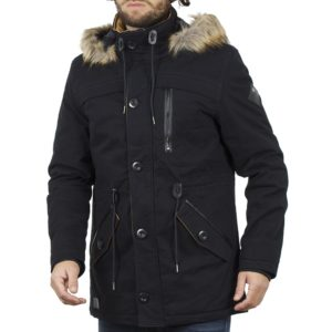 Μακρύ Μπουφάν Parka Jacket με Κουκούλα ICE TECH G638 Navy