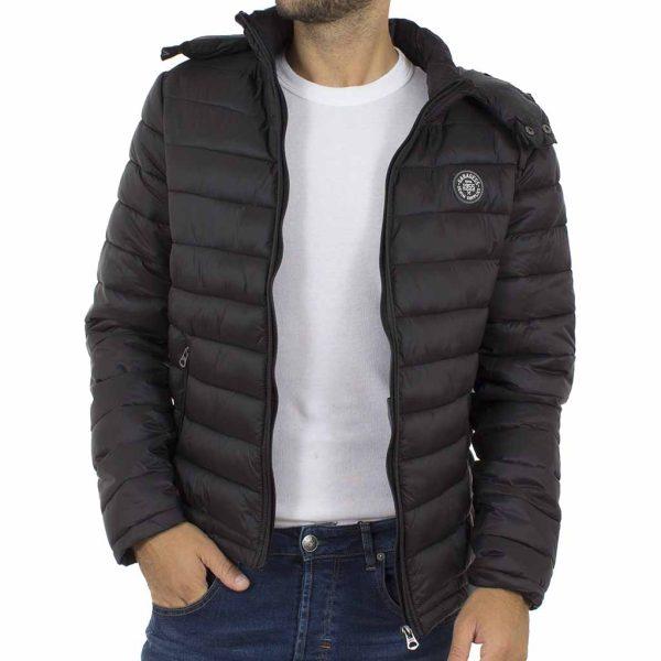 Μπουφάν Puffer Jacket Garage55 GAM227-01218 Μαύρο