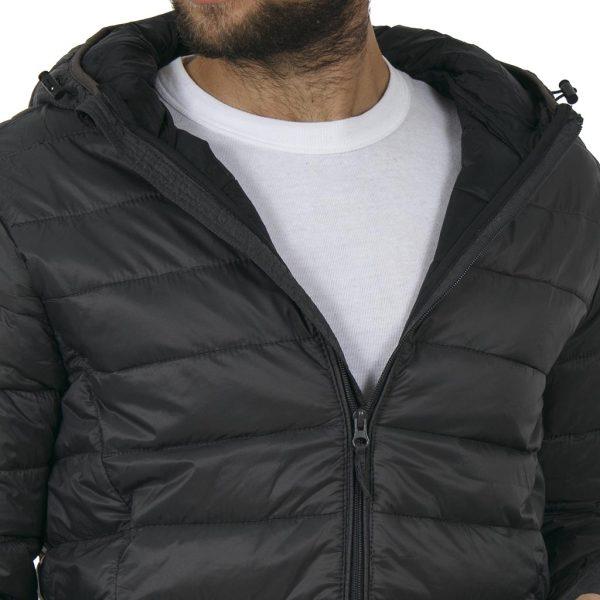 Φουσκωτό Μπουφάν Puffer Jacket με Κουκούλα BLEND 20706454 Ανθρακί