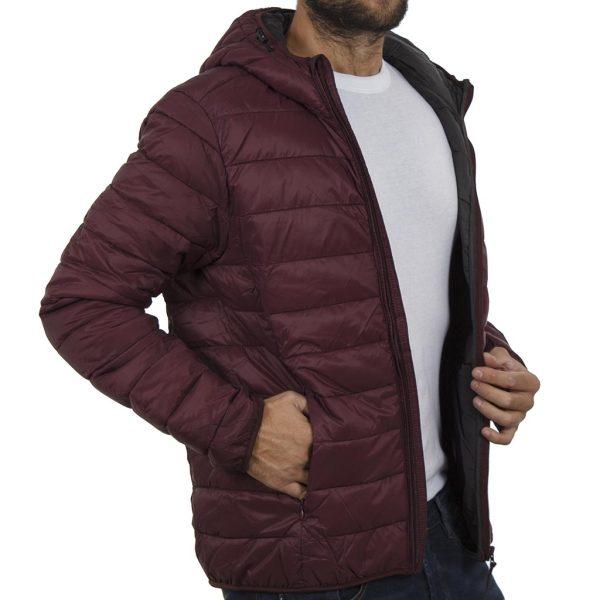 Φουσκωτό Μπουφάν Puffer Jacket με Κουκούλα BLEND 20706454 Μπορντό