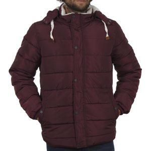 Φουσκωτό Μπουφάν Puffer Jacket με Κουκούλα BLEND 20707369 Μπορντό