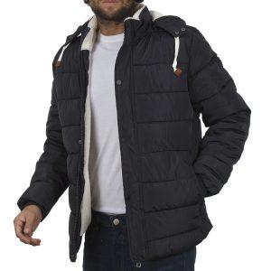 Φουσκωτό Μπουφάν Puffer Jacket με Κουκούλα BLEND 20707369 Navy ab4b4669ba9