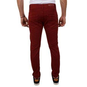 Παντελόνι Damaged jeans D32 Μπορντό