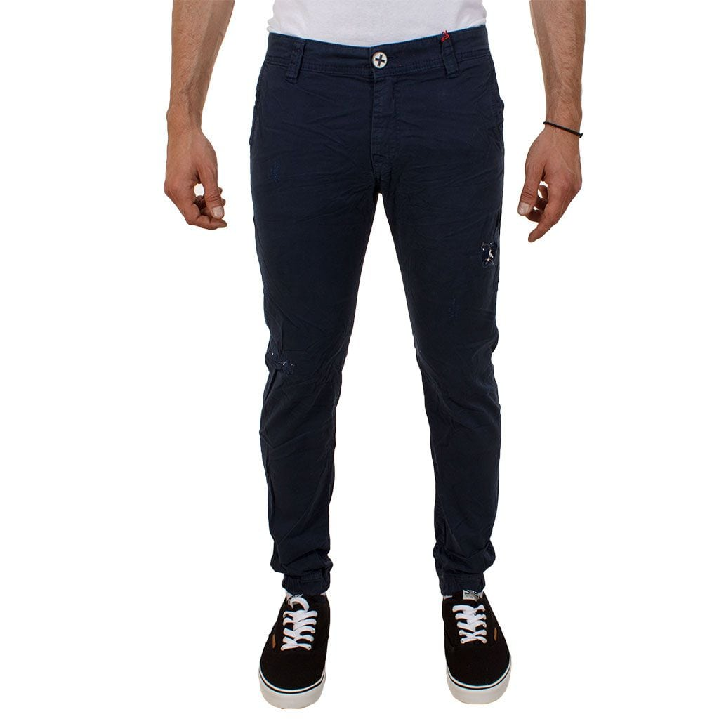 Παντελόνι Damaged jeans D32 Navy