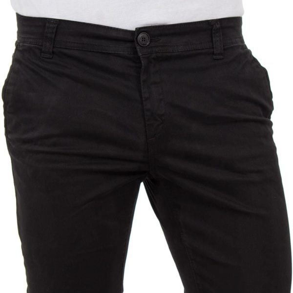 Chinos Παντελόνι DAMAGED Jeans D33 Μαύρο
