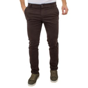 Chinos Παντελόνι DAMAGED Jeans D33 Καφέ