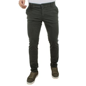 Chinos Παντελόνι DAMAGED Jeans D33 Πράσινο