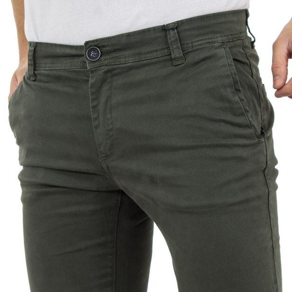 Chinos Παντελόνι DAMAGED Jeans D33 Πράσινο