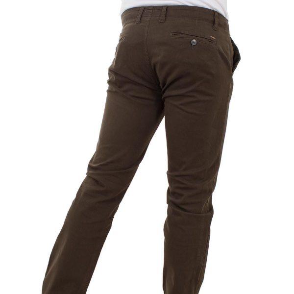 Παντελόνι Chinos Pants DOUBLE CP-217 σκούρο Καφέ