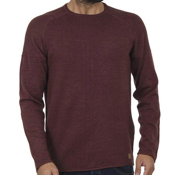 Πουλόβερ Πλεκτή Μπλούζα BLEND 20706288 Μπορντό