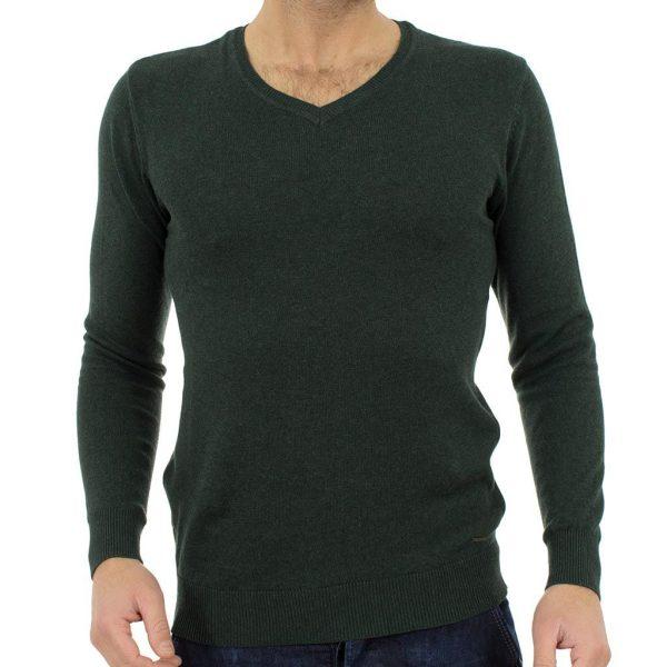 Πλεκτή Μπλούζα FUNKY BUDDHA FBM012-09217 Pesto Πράσινο