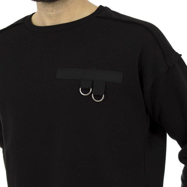 Πλεκτή Μπλούζα FREE WAVE 72105-1 Μαύρο