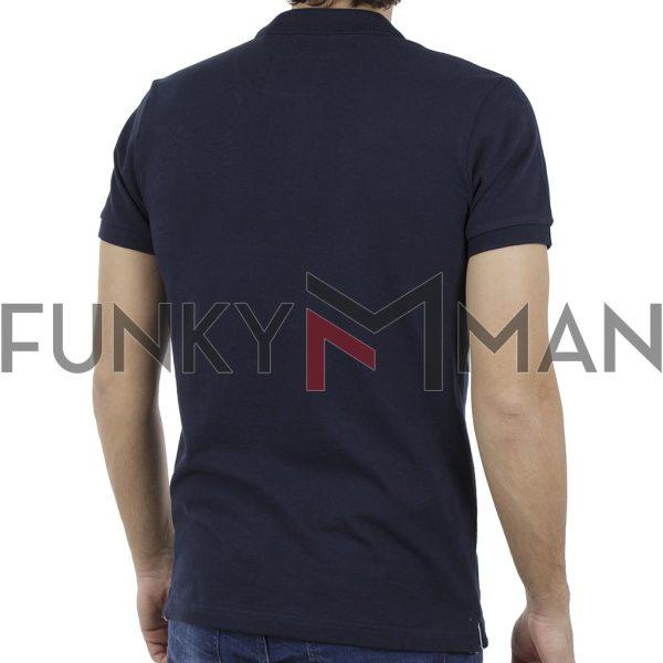 Κοντομάνικη Μπλούζα Polo FUNKY BUDDHA FBM017-11119 Navy