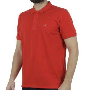 Κοντομάνικο Polo Pique Celio NECEONE Κόκκινο Coral