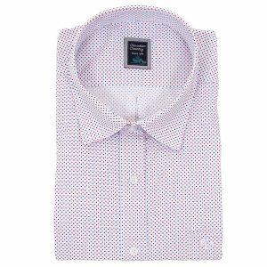 Πουά Κοντομάνικο Πουκάμισο Regular Fit Canadian Shirts 1010 Λευκό