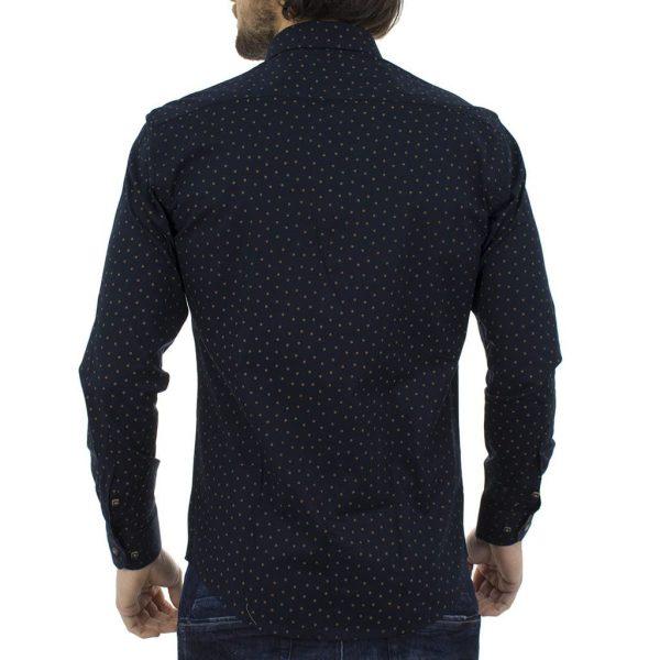 Πουά Μακρυμάνικο Πουκάμισο Slim Fit MASTER TAILOR 801SH612-2526-30 σκούρο Μπλε