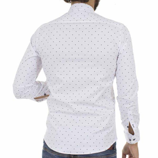 Πουά Μάο Μακρυμάνικο Πουκάμισο Slim Fit ENDESON CLUB 6010-100 Λευκό