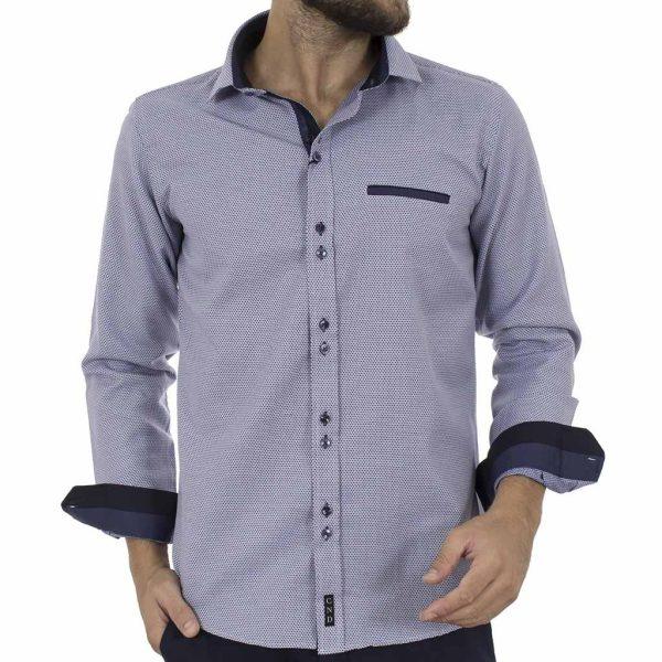 Μακρυμάνικο Πουκάμισο Slim Fit CND Shirts 3600 Navy