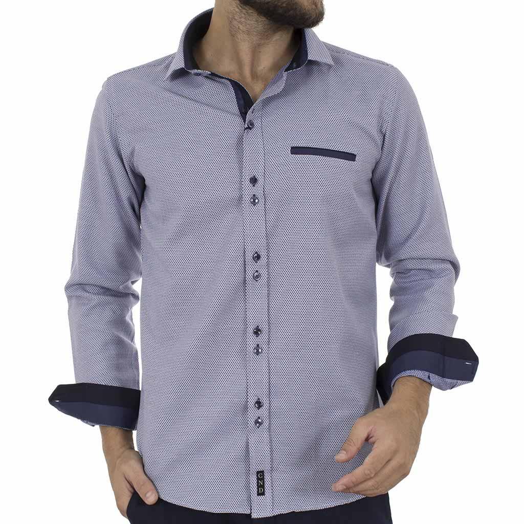 7e76e49d4409 Μακρυμάνικο Πουκάμισο Slim Fit CND Shirts 3600-3 Navy